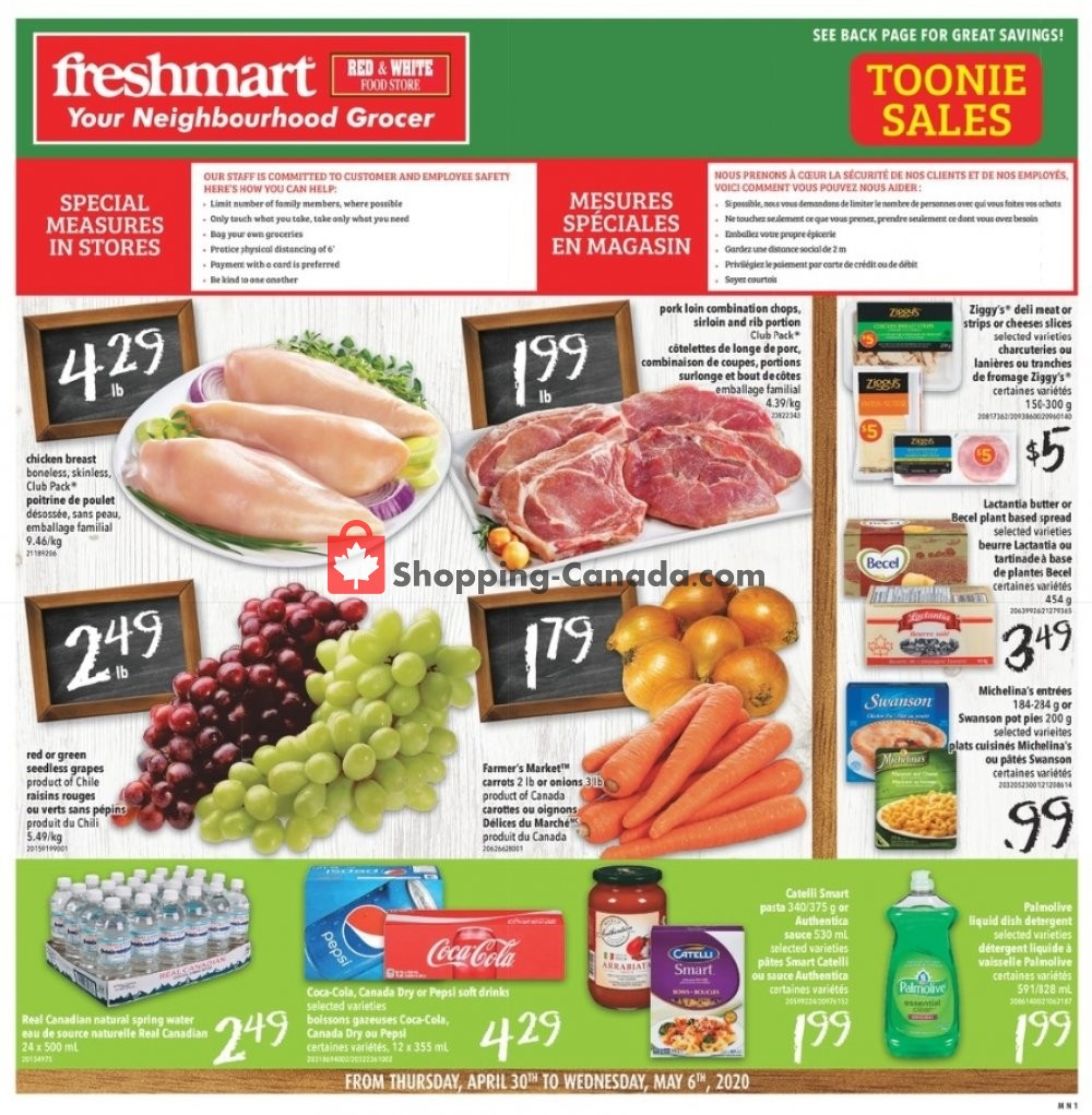 Flyer Freshmart Canada - from Thursday April 30, 2020 to Wednesday May 6, 2020