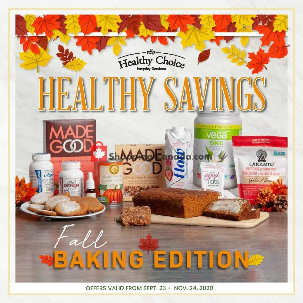 Flyer Freson Bros. Canada - from Wednesday September 23, 2020 to Tuesday November 24, 2020
