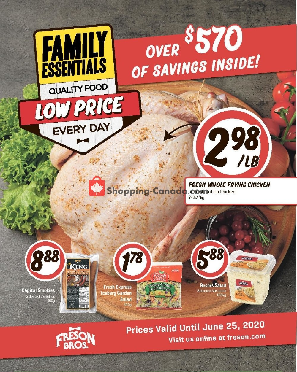 Flyer Freson Bros. Canada - from Friday May 29, 2020 to Thursday June 25, 2020