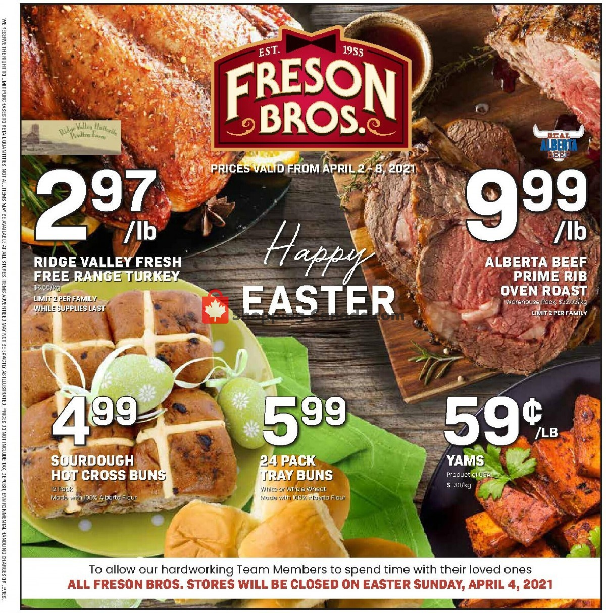 Flyer Freson Bros. Canada - from Friday April 2, 2021 to Thursday April 8, 2021