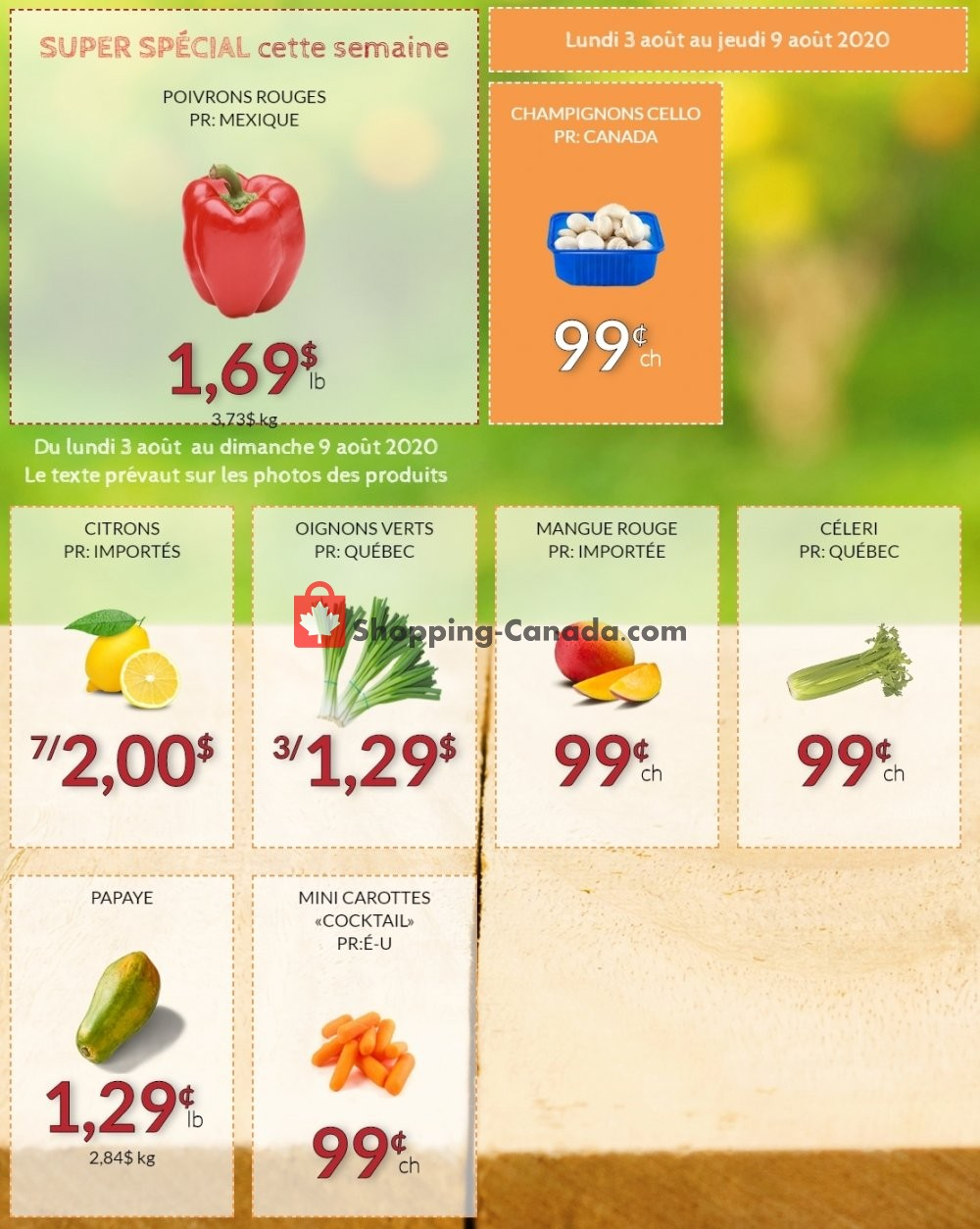 Flyer Fruiterie 440 Canada - from Monday August 3, 2020 to Sunday August 9, 2020