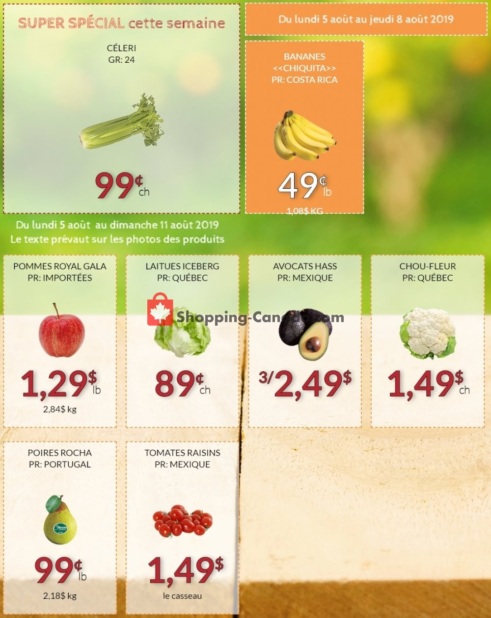 Flyer Fruiterie 440 Canada - from Monday August 5, 2019 to Sunday August 11, 2019