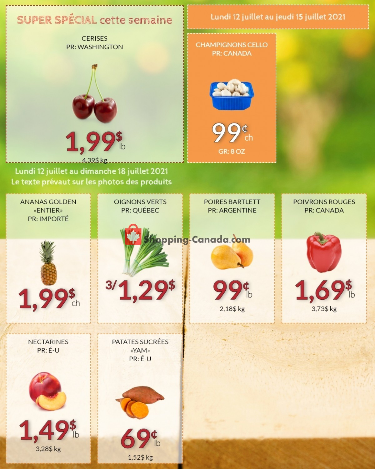 Flyer Fruiterie 440 Canada - from Monday July 12, 2021 to Sunday July 18, 2021