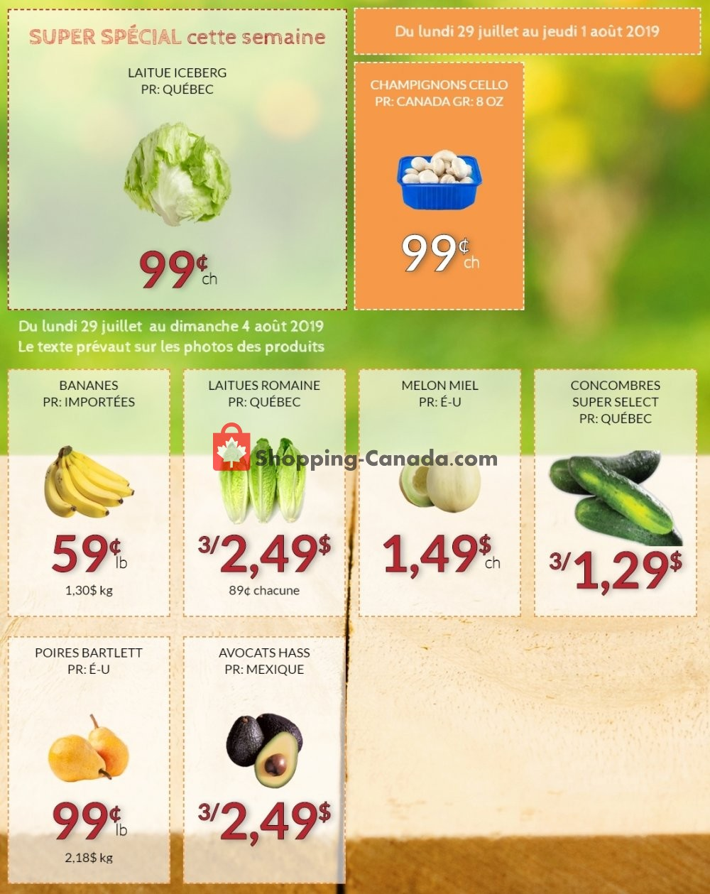 Flyer Fruiterie 440 Canada - from Monday July 29, 2019 to Sunday August 4, 2019