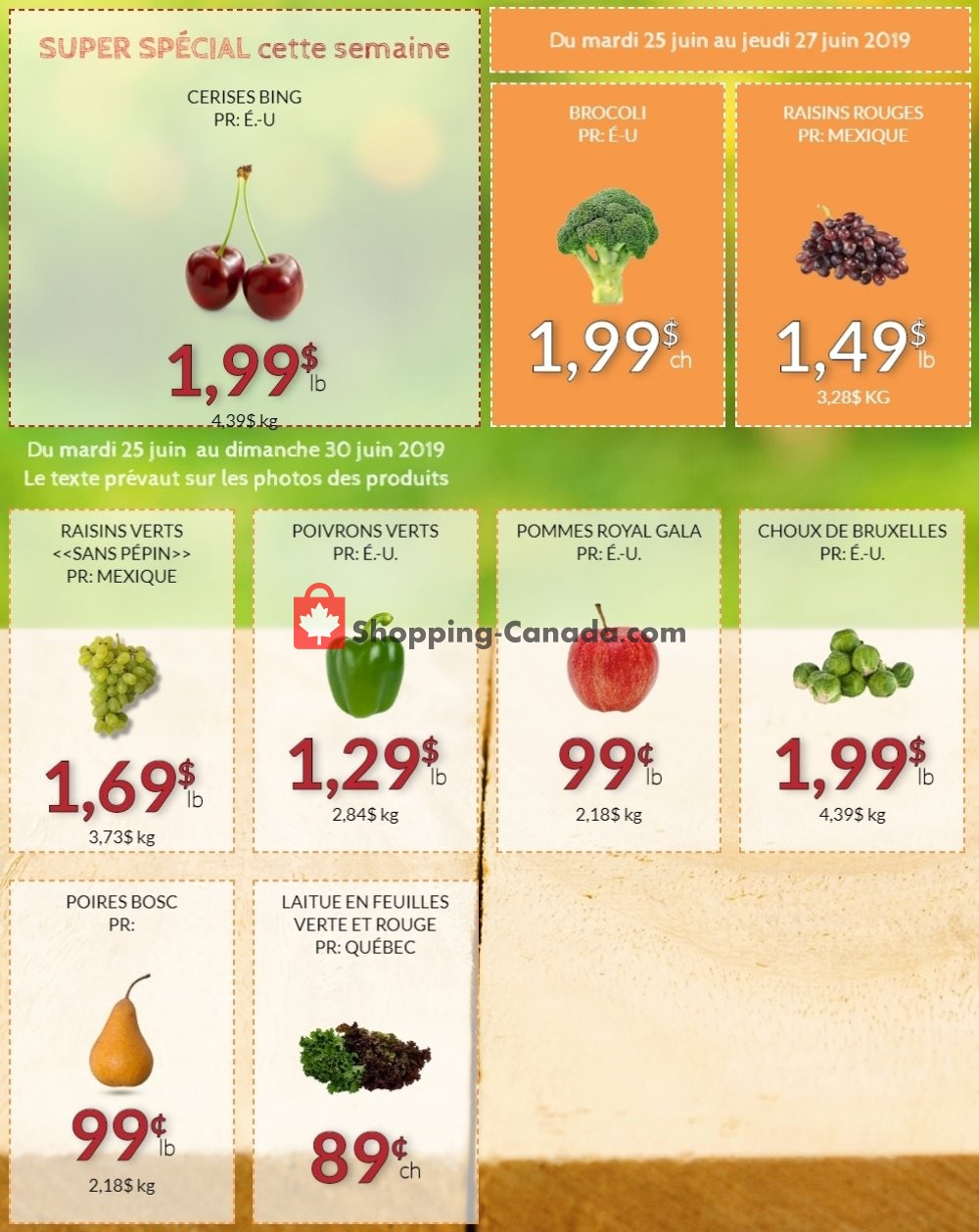 Flyer Fruiterie 440 Canada - from Tuesday June 25, 2019 to Sunday June 30, 2019