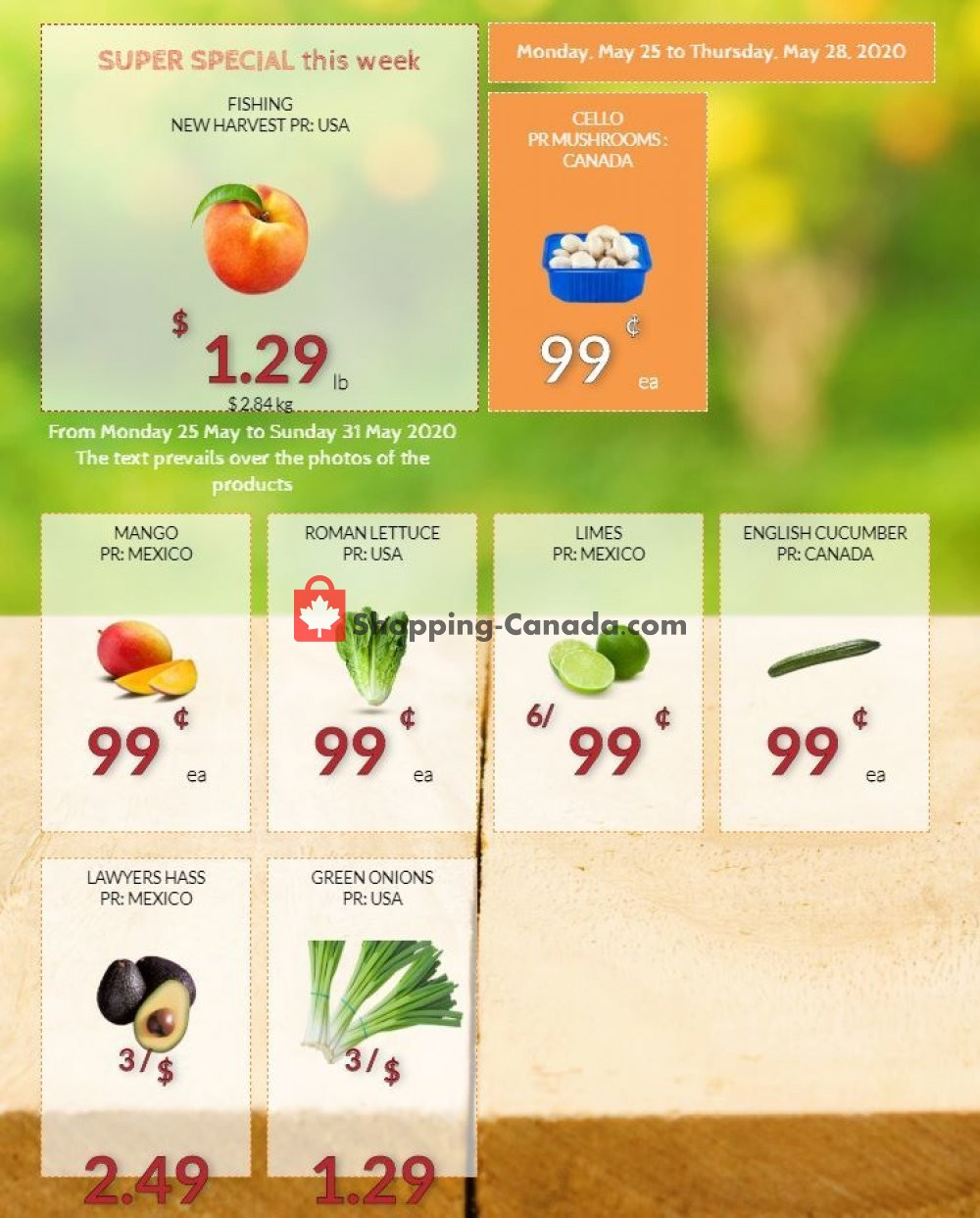 Flyer Fruiterie 440 Canada - from Monday May 25, 2020 to Saturday May 30, 2020