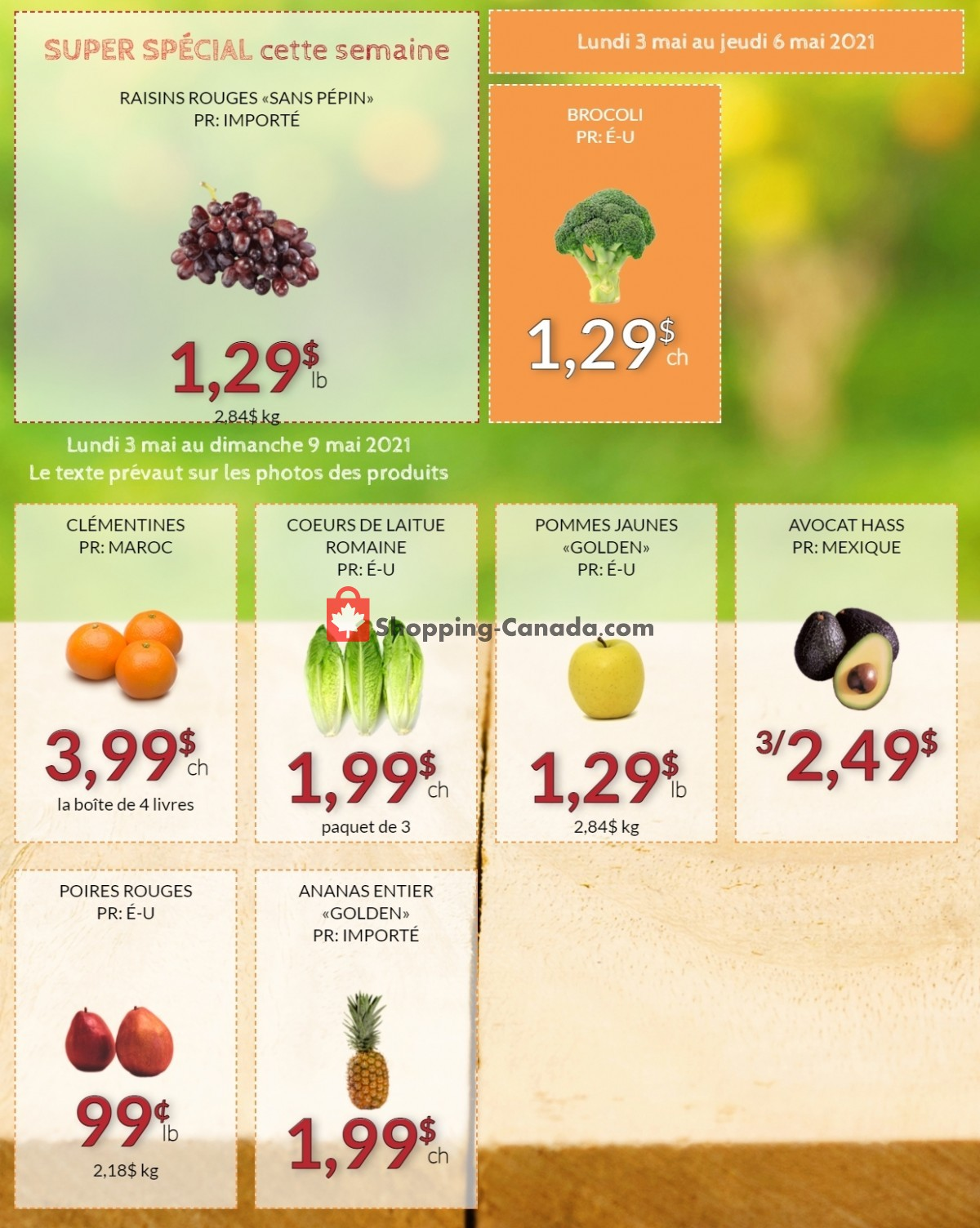 Flyer Fruiterie 440 Canada - from Monday May 3, 2021 to Sunday May 9, 2021