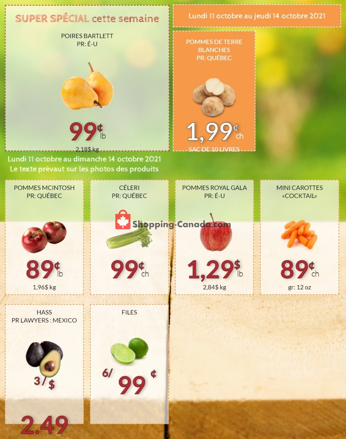 Flyer Fruiterie 440 Canada - from Monday October 11, 2021 to Thursday October 14, 2021