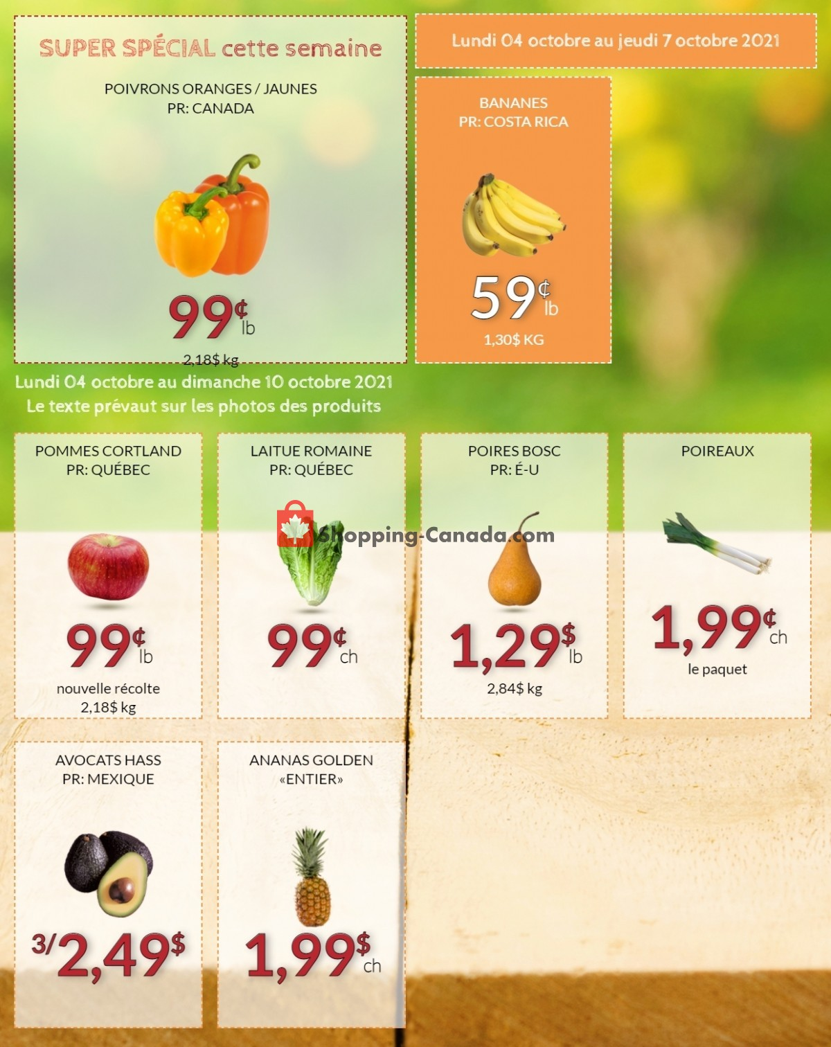 Flyer Fruiterie 440 Canada - from Monday October 4, 2021 to Sunday October 10, 2021