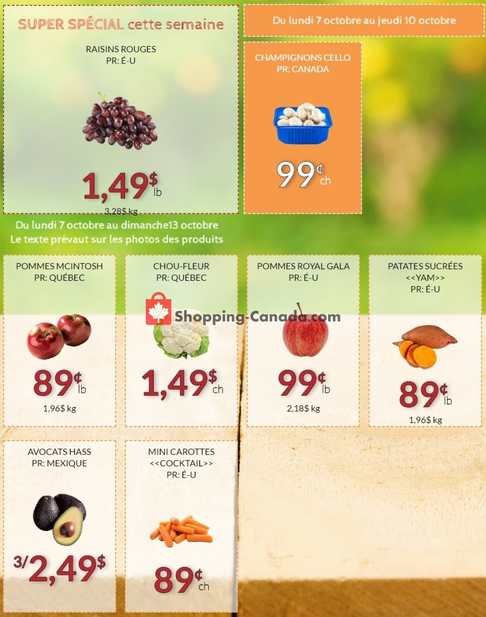 Flyer Fruiterie 440 Canada - from Monday October 7, 2019 to Sunday October 13, 2019