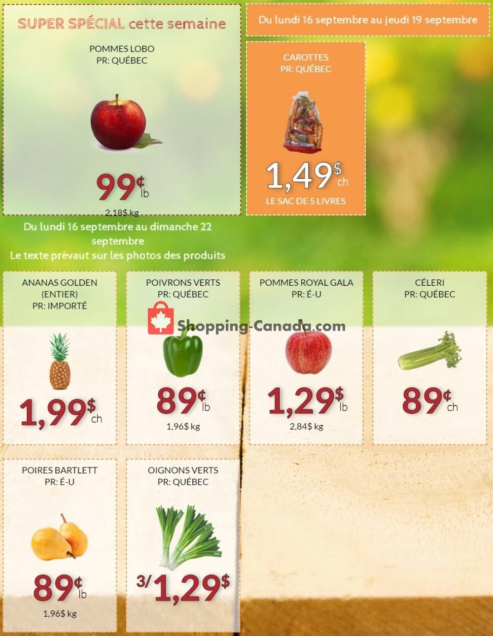 Flyer Fruiterie 440 Canada - from Monday September 16, 2019 to Sunday September 22, 2019