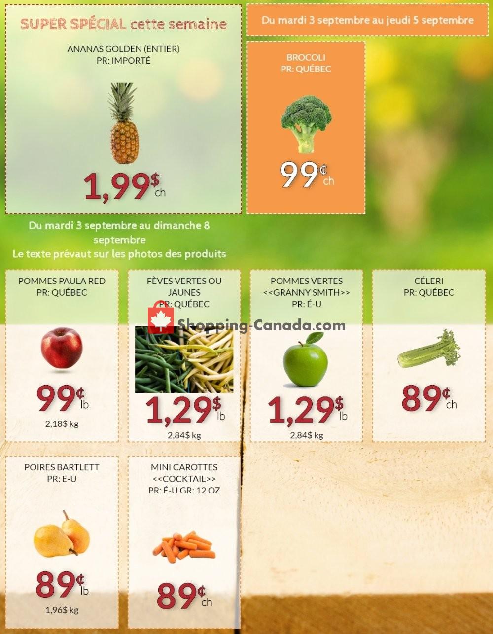 Fruiterie 440 Canada, flyer - (Super Special): September 3 ...