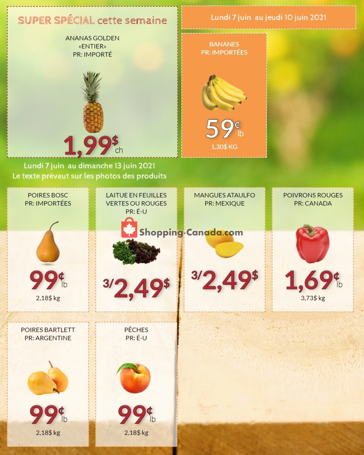 Flyer Fruiterie 440 Canada - from Monday June 7, 2021 to Sunday June 13, 2021