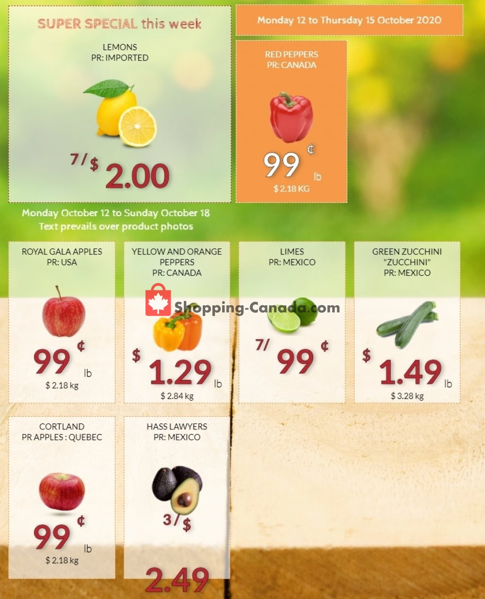 Flyer Fruiterie 440 Canada - from Monday October 12, 2020 to Sunday October 18, 2020