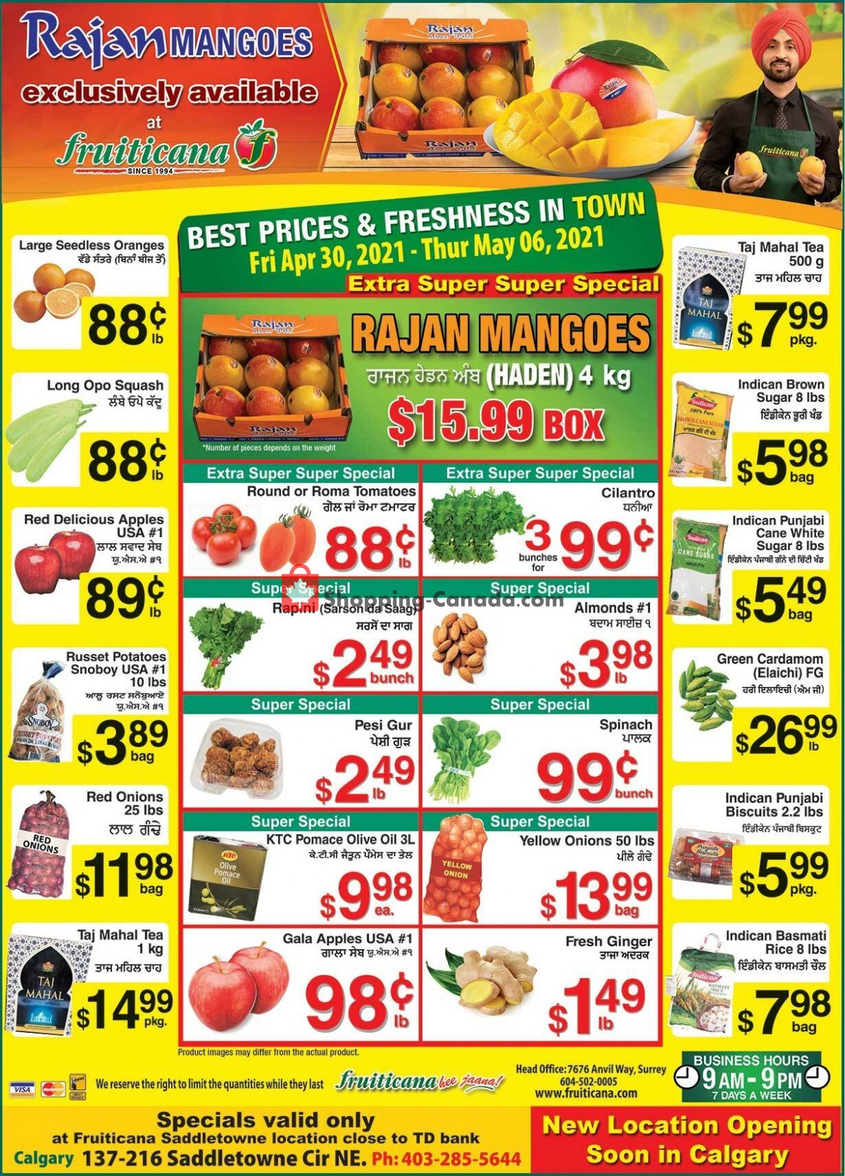 Flyer Fruiticana Canada - from Friday April 30, 2021 to Thursday May 6, 2021