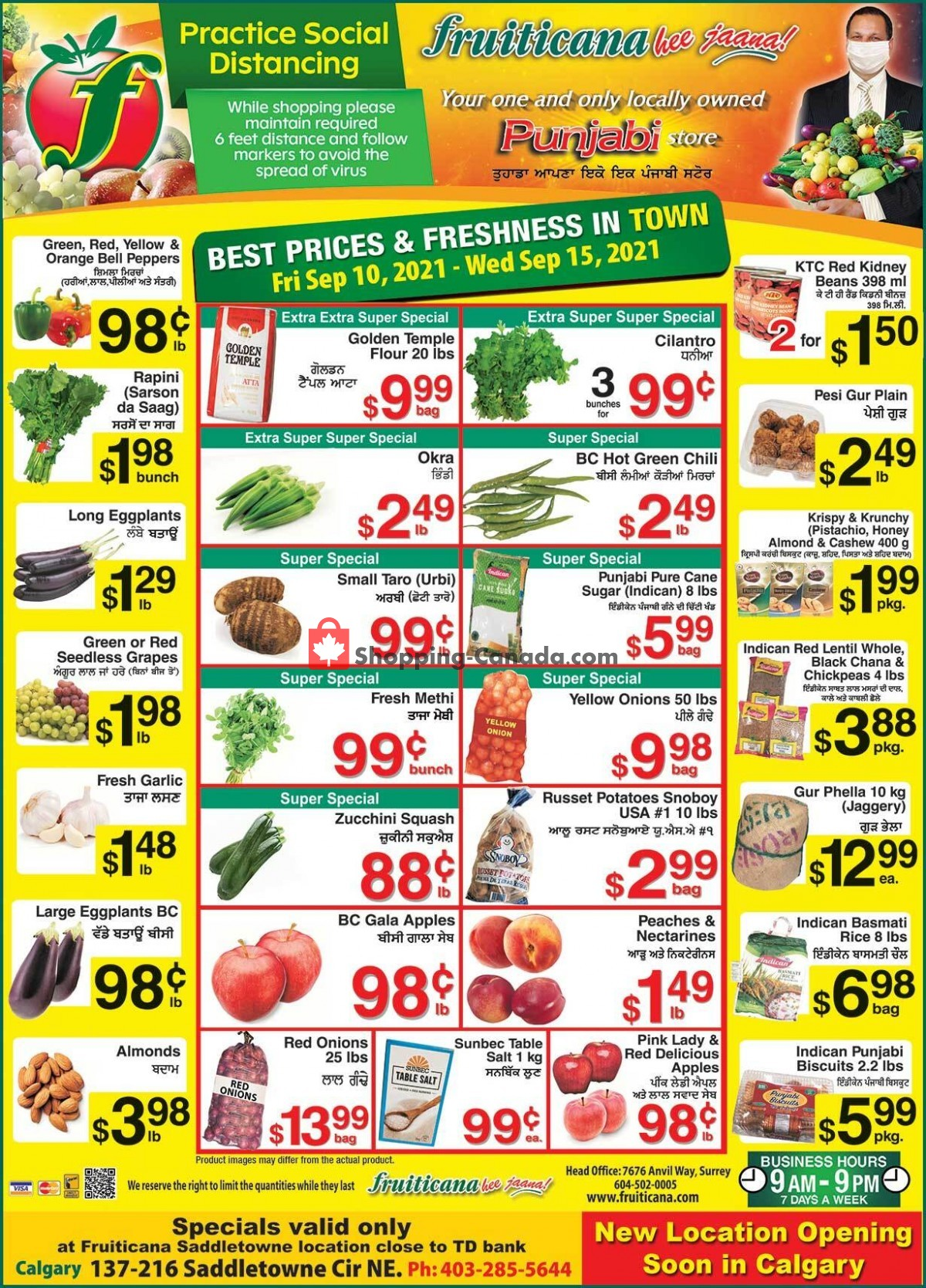 Flyer Fruiticana Canada - from Friday September 10, 2021 to Wednesday September 15, 2021