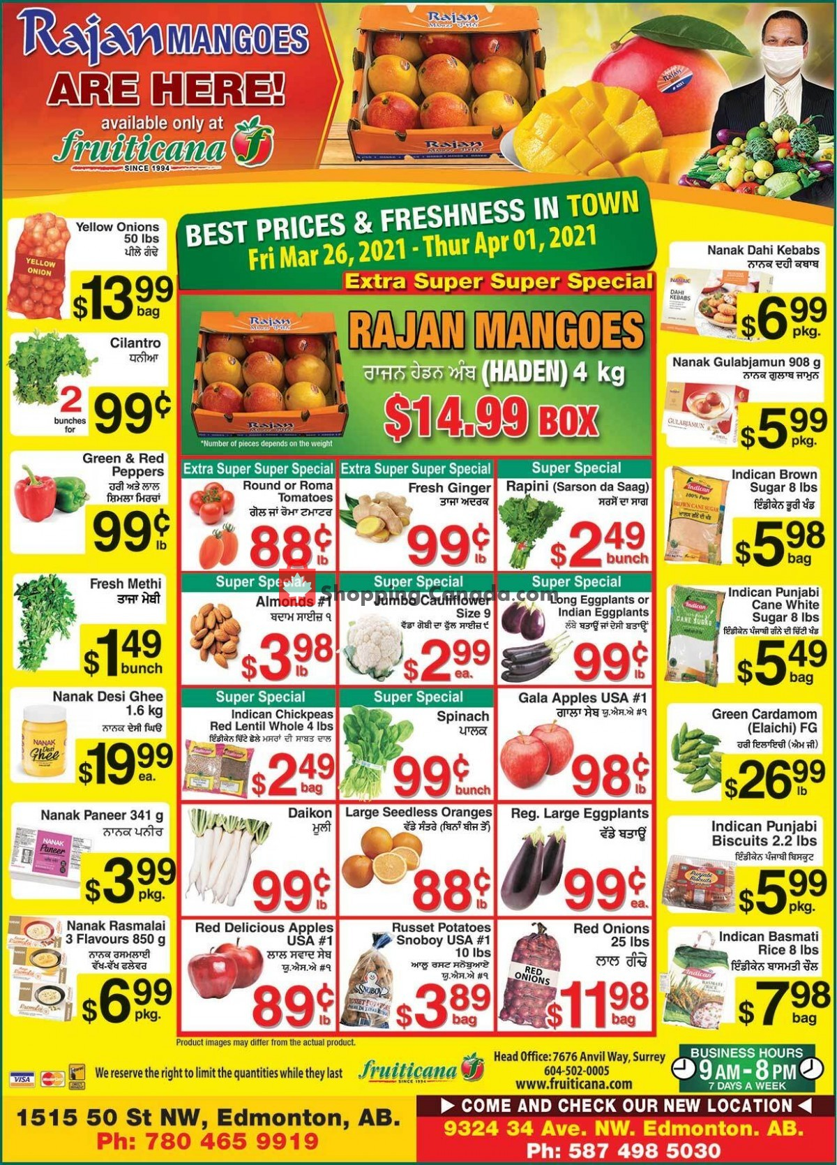Flyer Fruiticana Canada - from Friday March 26, 2021 to Thursday April 1, 2021