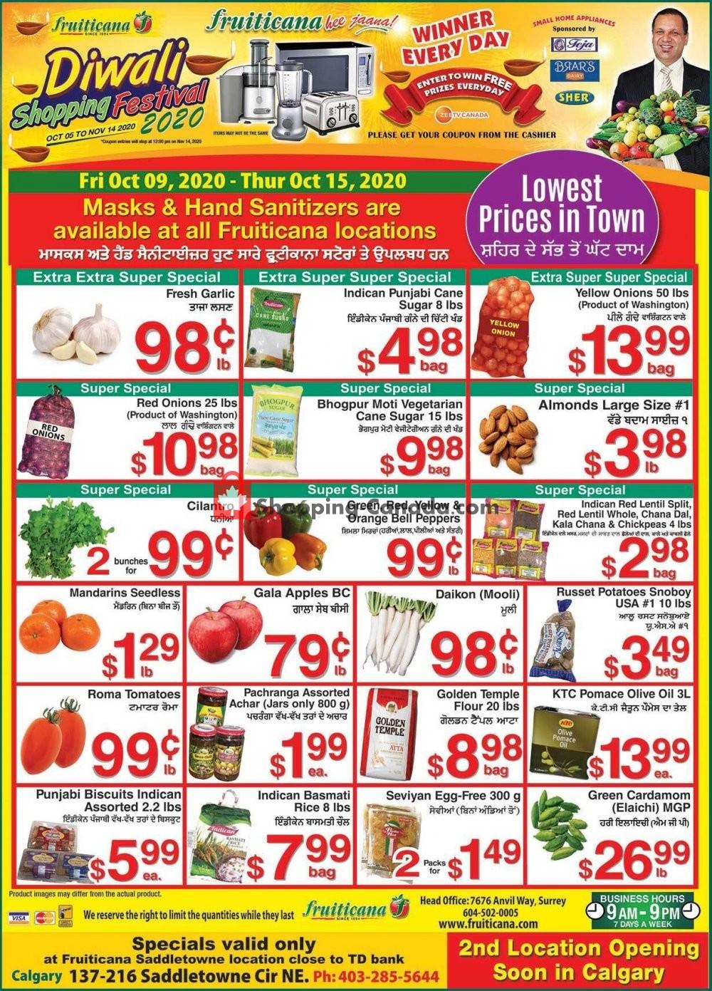 Flyer Fruiticana Canada - from Friday October 9, 2020 to Thursday October 15, 2020