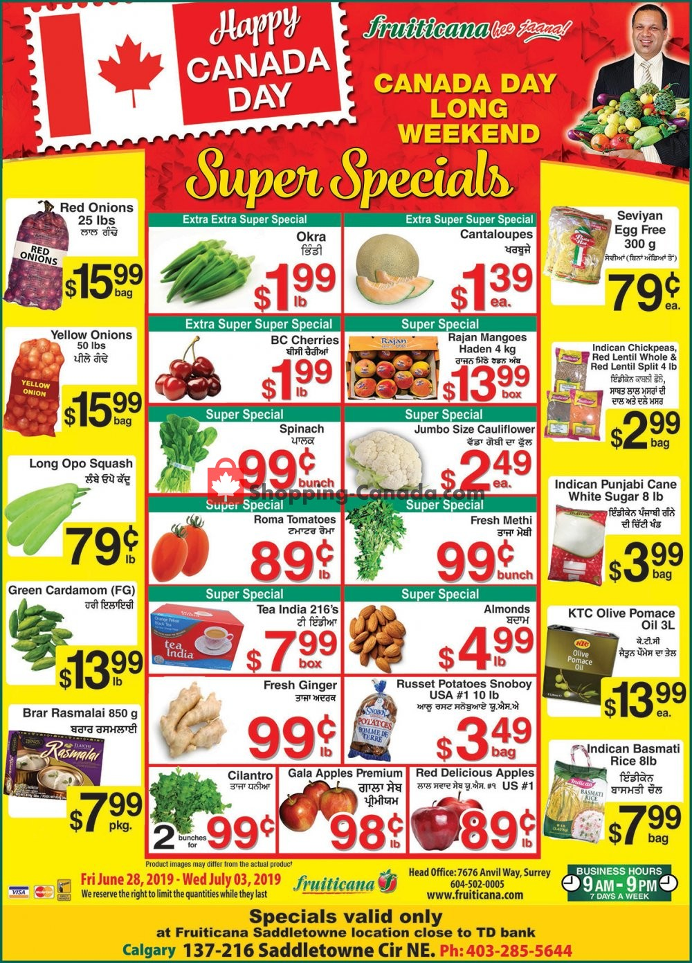 Flyer Fruiticana Canada - from Friday June 28, 2019 to Wednesday July 3, 2019