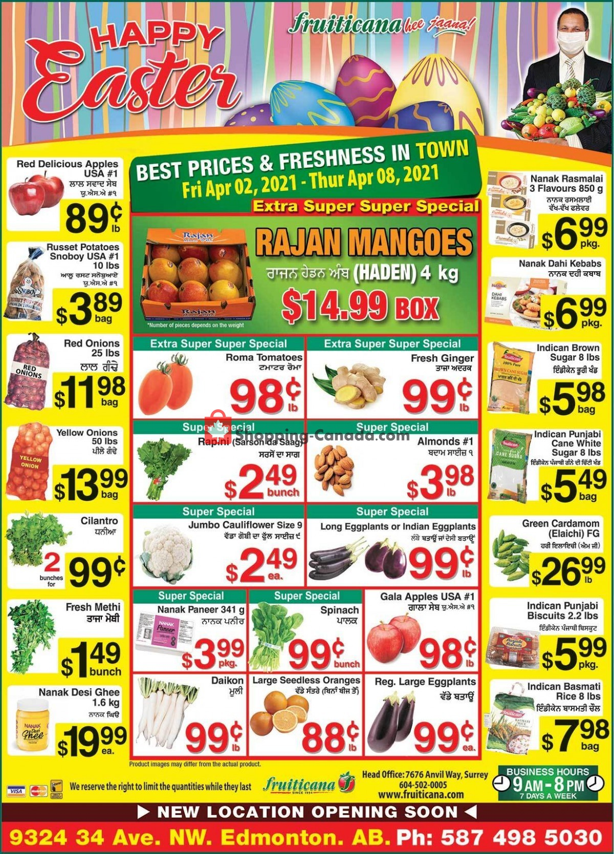 Flyer Fruiticana Canada - from Friday April 2, 2021 to Thursday April 8, 2021