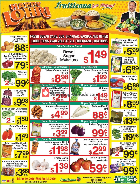 Flyer Fruiticana Canada - from Friday January 10, 2020 to Wednesday January 15, 2020