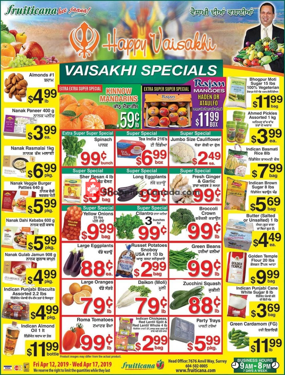 Flyer Fruiticana Canada - from Friday April 12, 2019 to Wednesday April 17, 2019