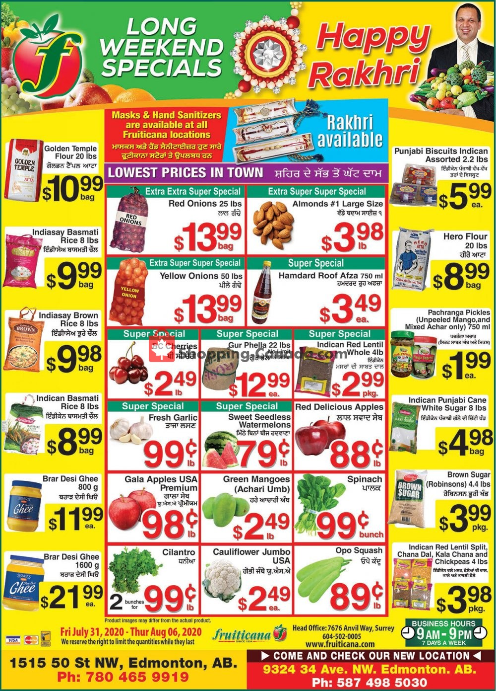 Flyer Fruiticana Canada - from Friday July 31, 2020 to Thursday August 6, 2020