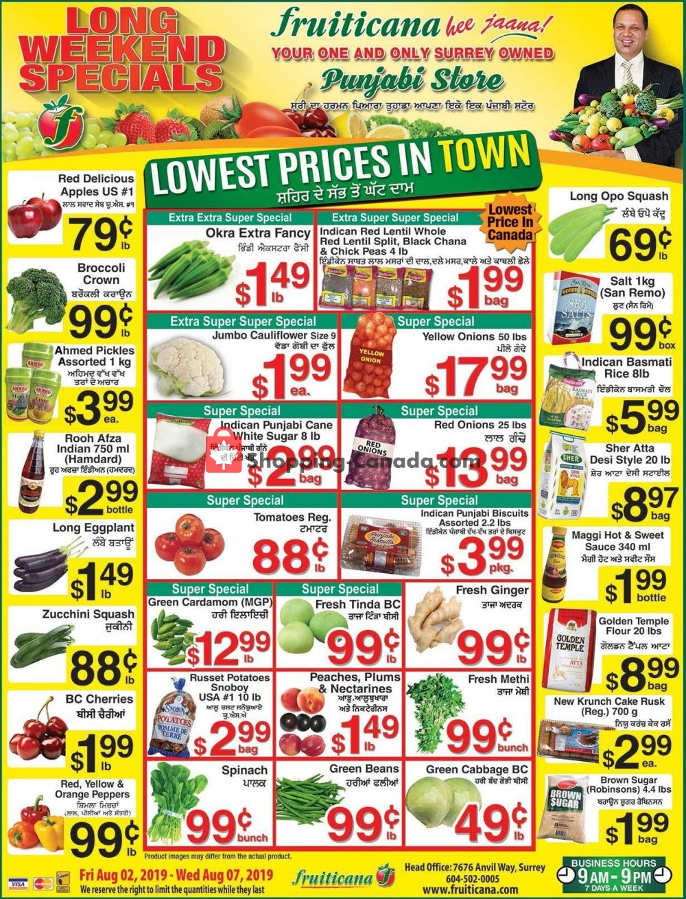 Flyer Fruiticana Canada - from Friday August 2, 2019 to Wednesday August 7, 2019