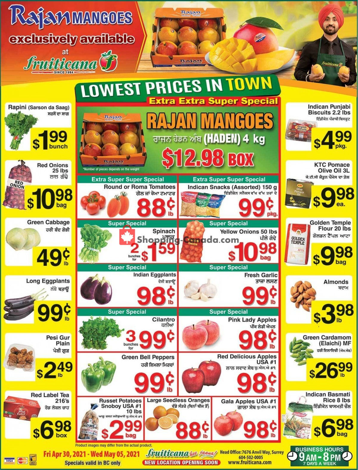 Flyer Fruiticana Canada - from Friday April 30, 2021 to Wednesday May 5, 2021