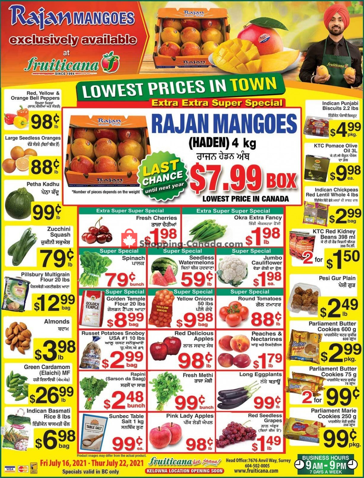 Flyer Fruiticana Canada - from Friday July 16, 2021 to Thursday July 22, 2021