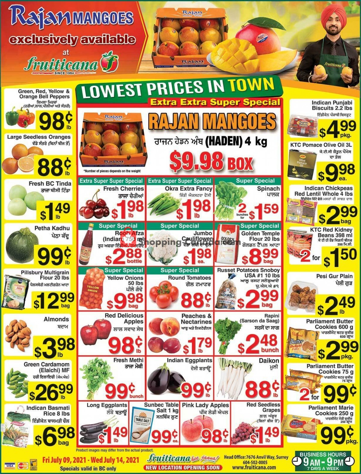 Flyer Fruiticana Canada - from Friday July 9, 2021 to Wednesday July 14, 2021