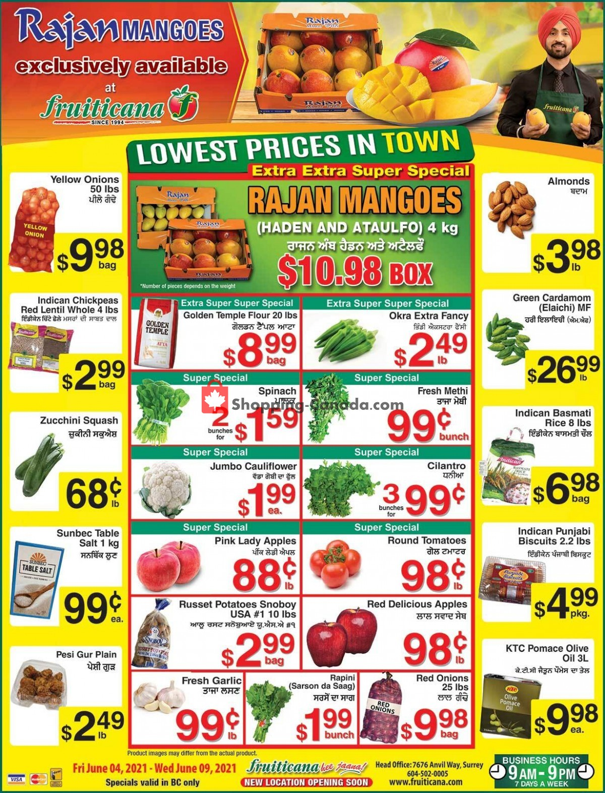 Flyer Fruiticana Canada - from Friday June 4, 2021 to Wednesday June 9, 2021