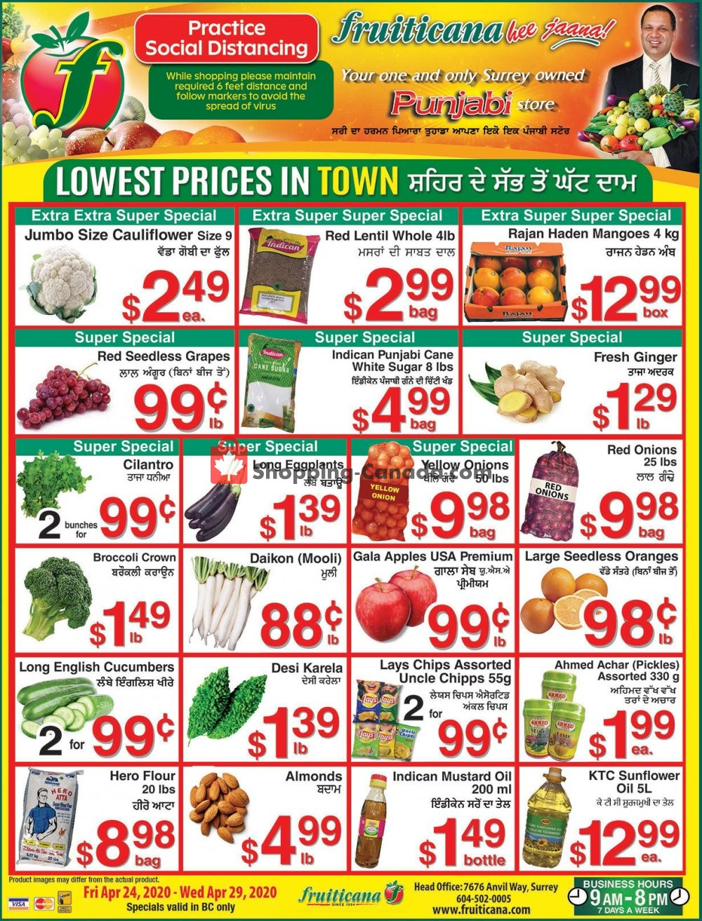 Flyer Fruiticana Canada - from Friday April 24, 2020 to Wednesday April 29, 2020