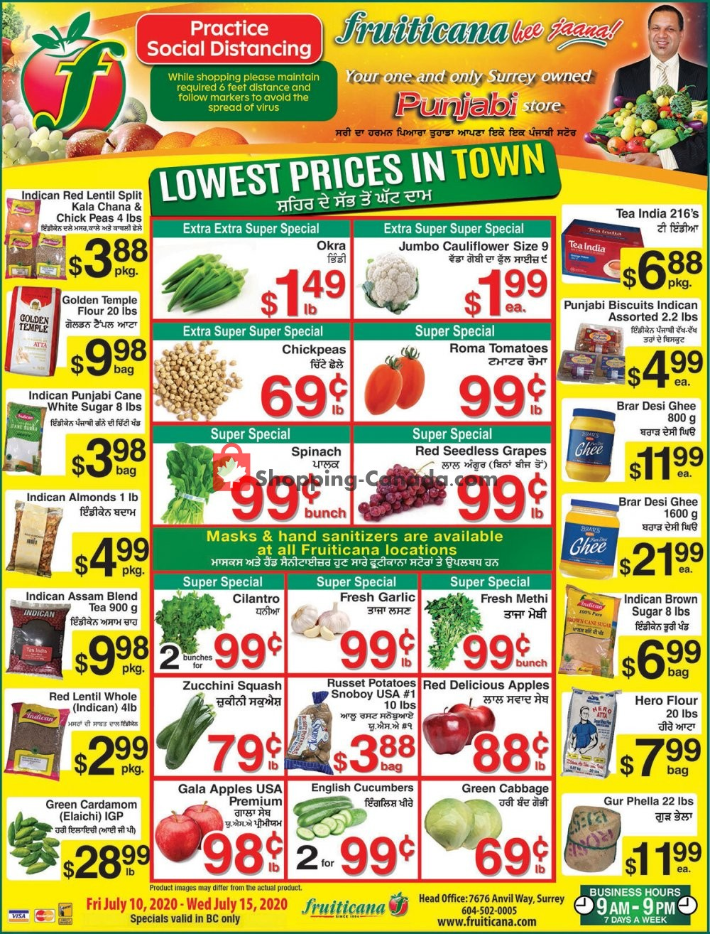 Flyer Fruiticana Canada - from Friday July 10, 2020 to Wednesday July 15, 2020