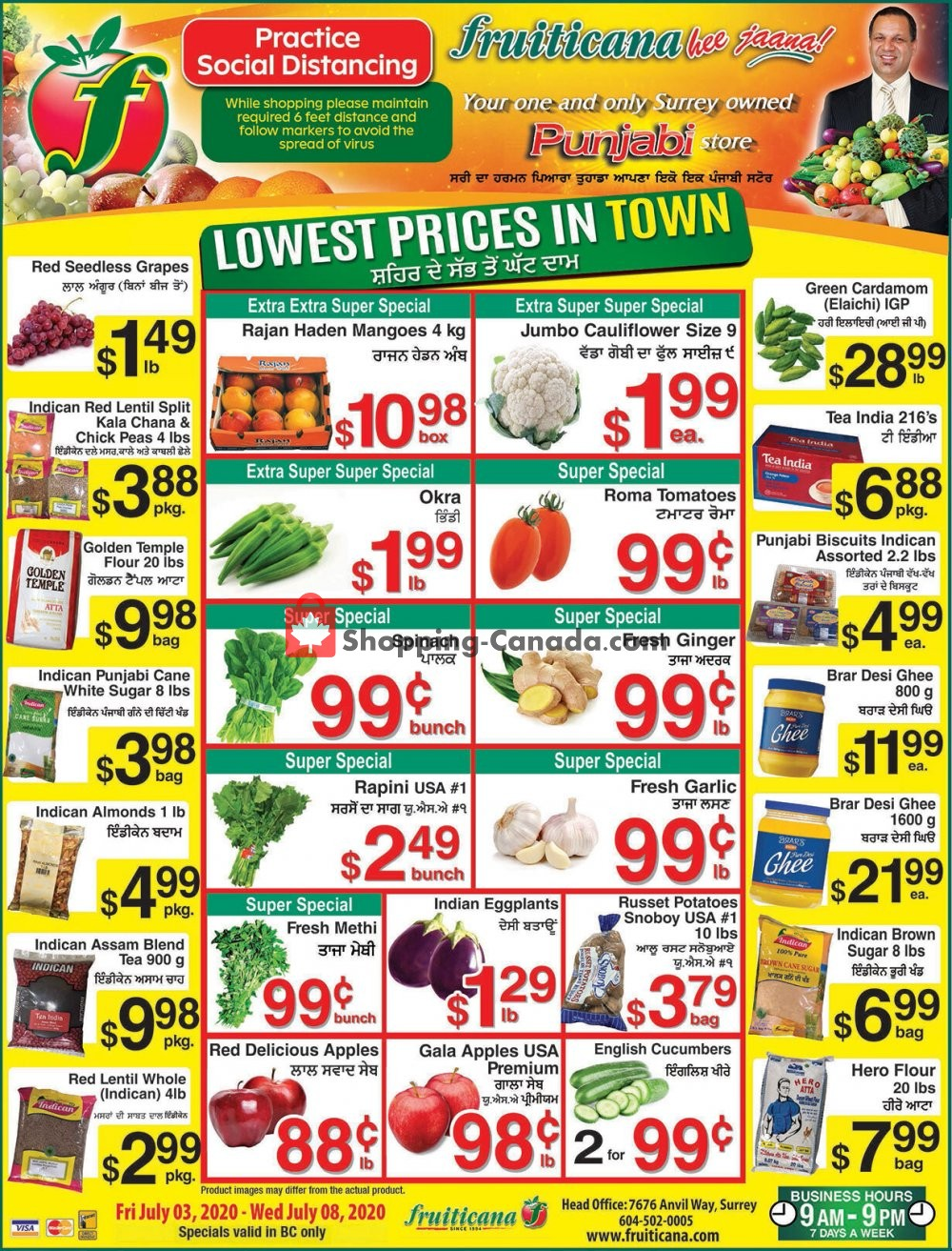 Flyer Fruiticana Canada - from Friday July 3, 2020 to Wednesday July 8, 2020