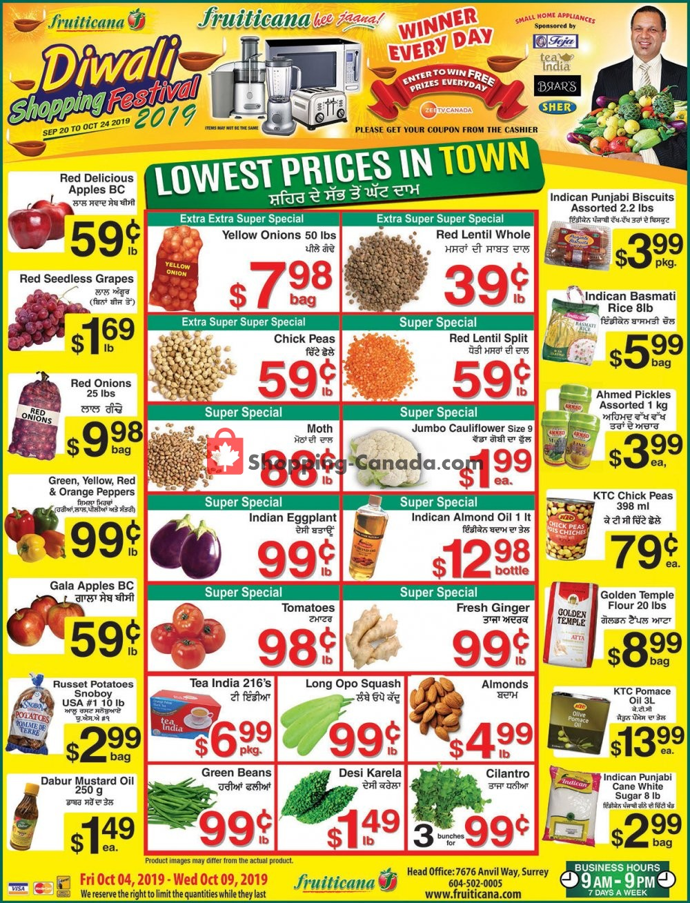 Flyer Fruiticana Canada - from Friday October 4, 2019 to Wednesday October 9, 2019