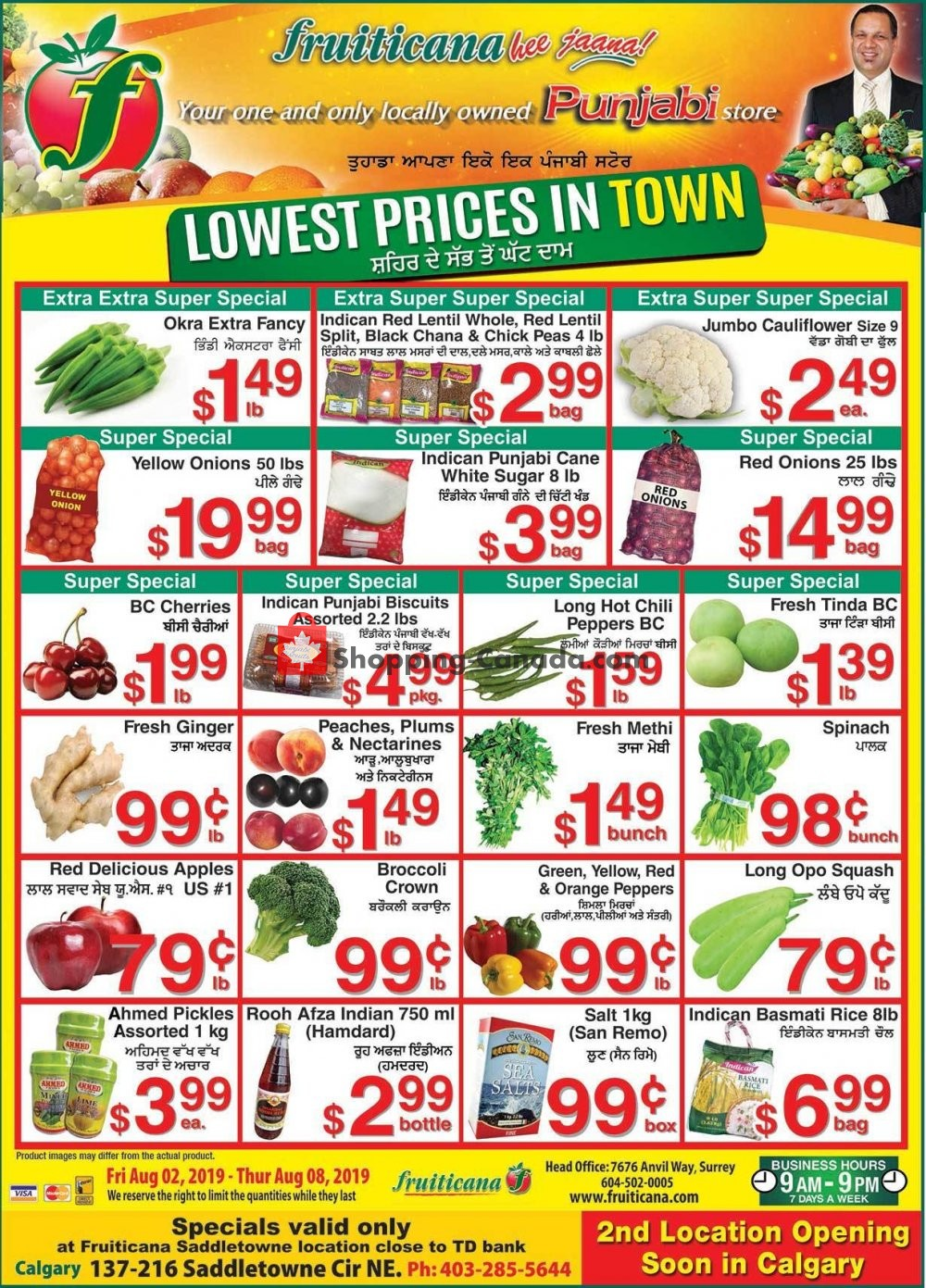 Flyer Fruiticana Canada - from Friday August 2, 2019 to Thursday August 8, 2019