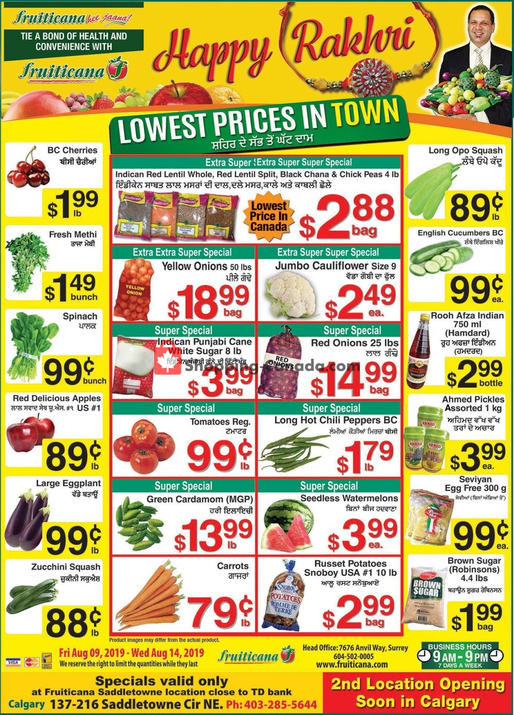 Flyer Fruiticana Canada - from Friday August 9, 2019 to Wednesday August 14, 2019