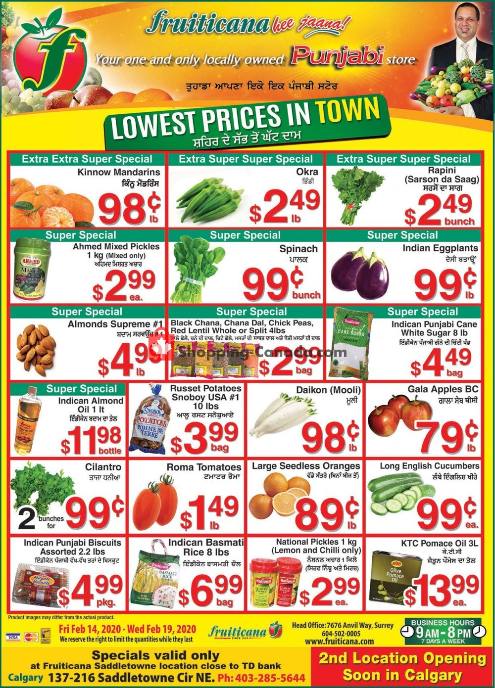 Flyer Fruiticana Canada - from Friday February 14, 2020 to Wednesday February 19, 2020