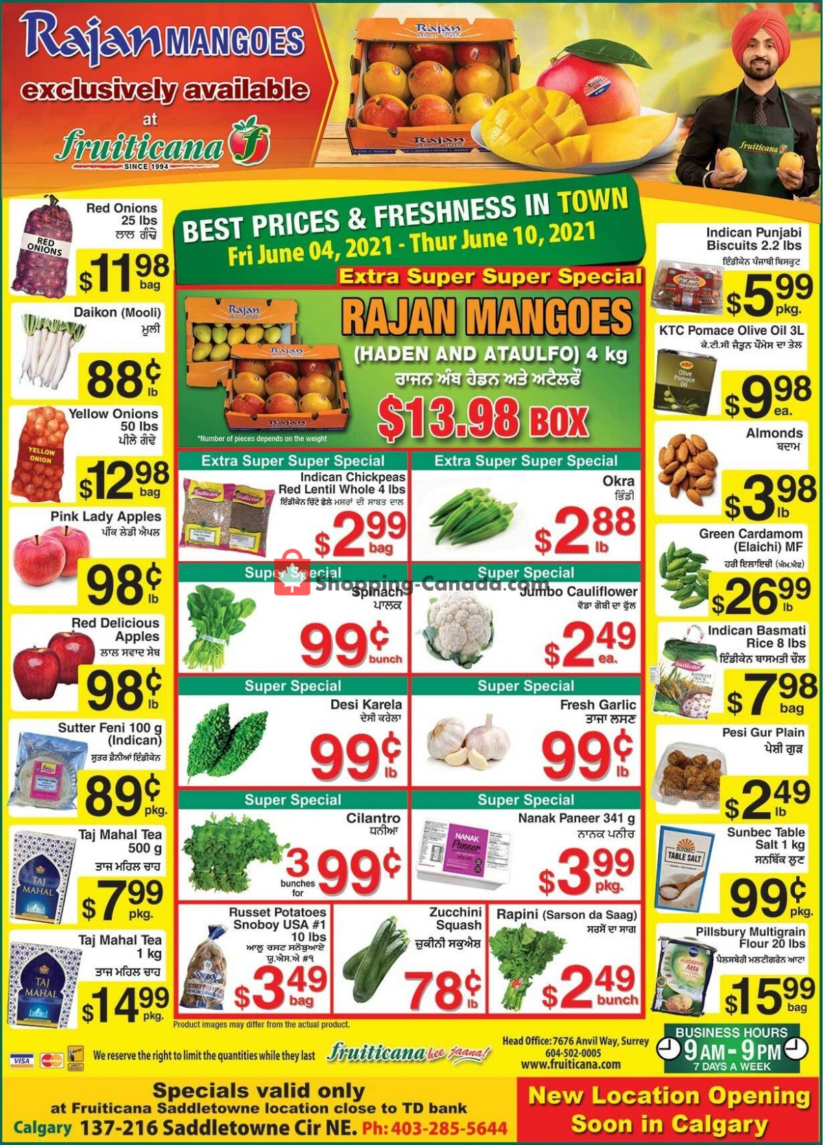 Flyer Fruiticana Canada - from Friday June 4, 2021 to Thursday June 10, 2021