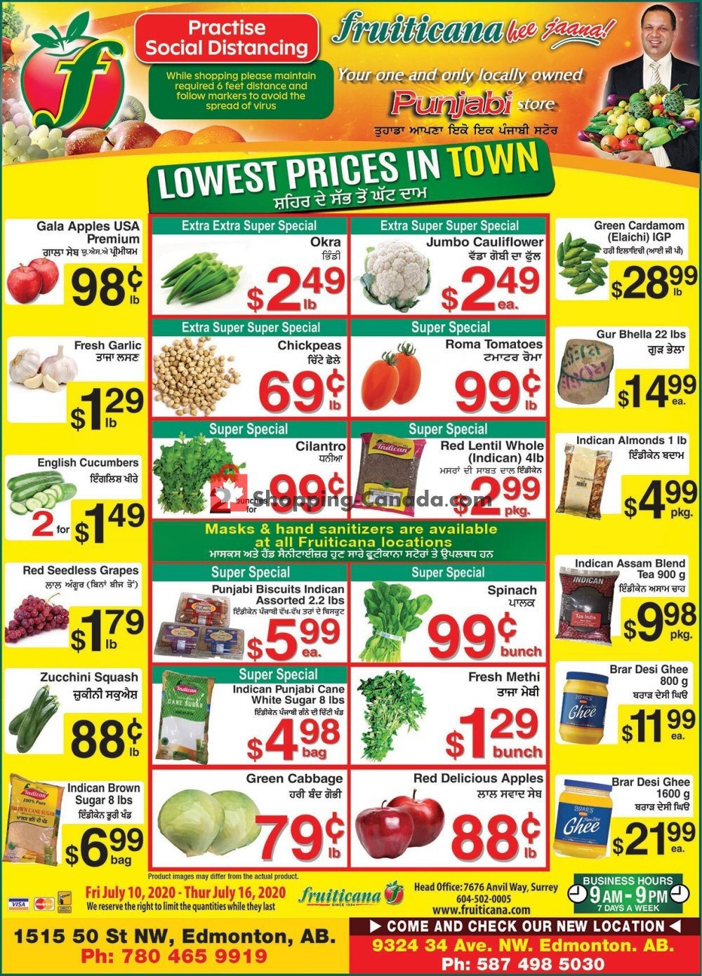 Flyer Fruiticana Canada - from Friday July 10, 2020 to Thursday July 16, 2020
