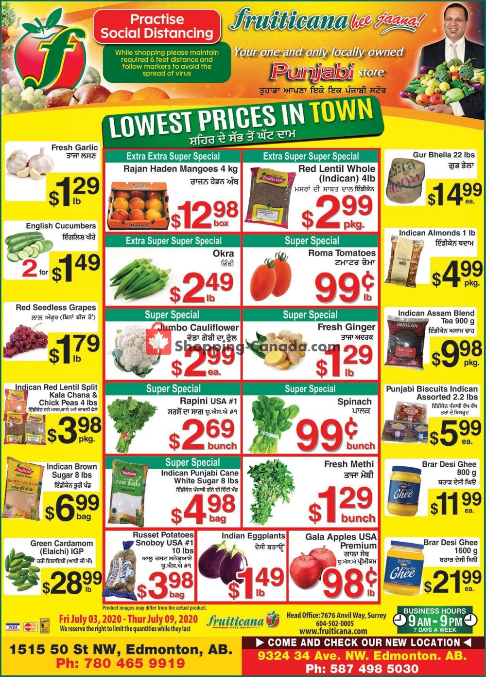 Flyer Fruiticana Canada - from Friday July 3, 2020 to Thursday July 9, 2020
