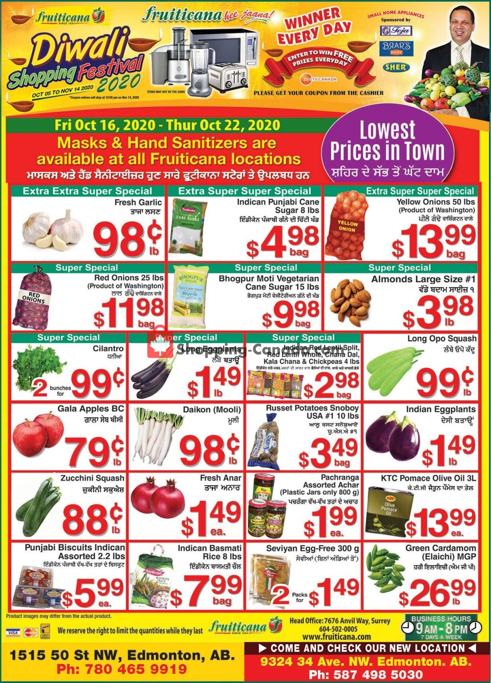 Flyer Fruiticana Canada - from Friday October 16, 2020 to Thursday October 22, 2020