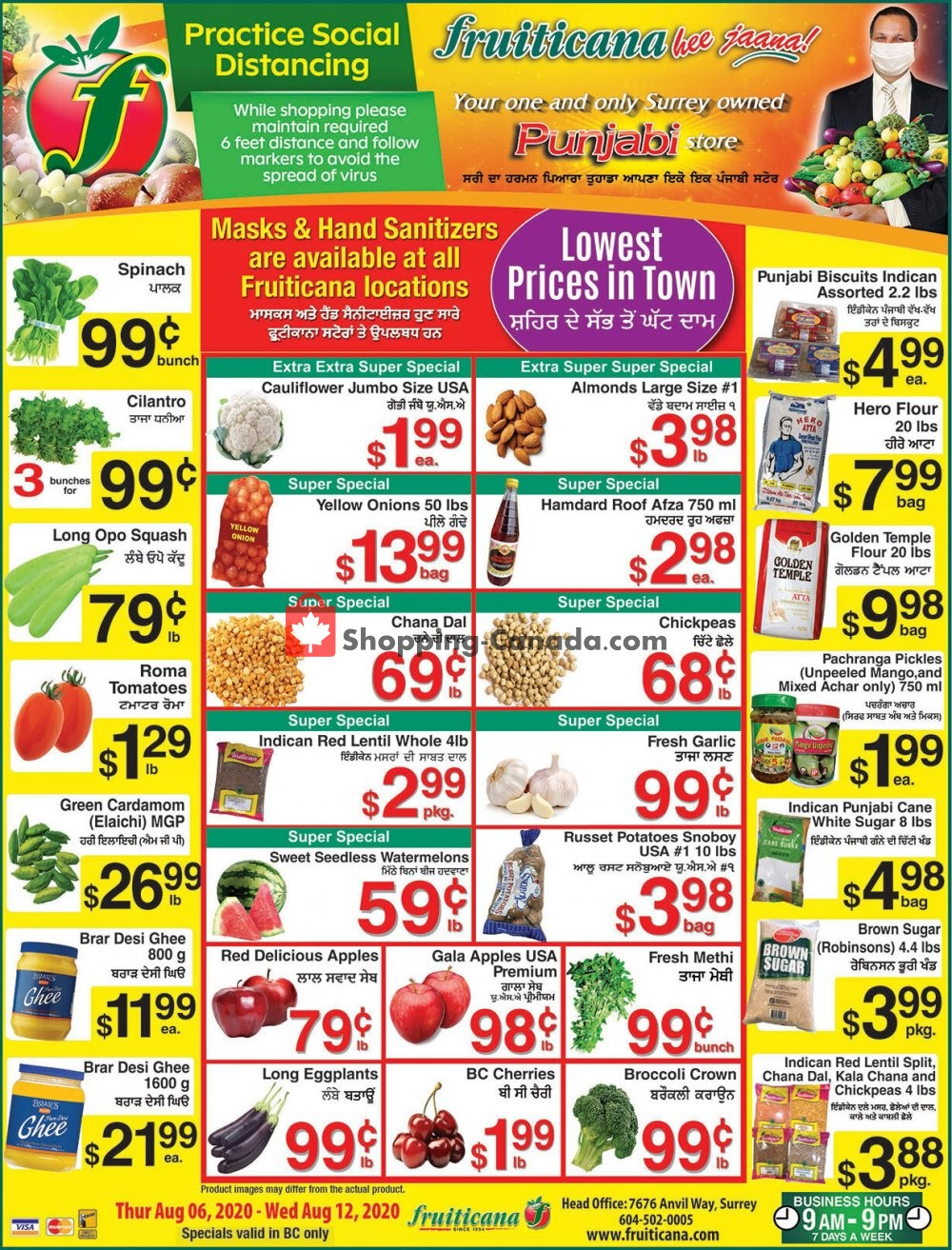 Flyer Fruiticana Canada - from Thursday August 6, 2020 to Wednesday August 12, 2020