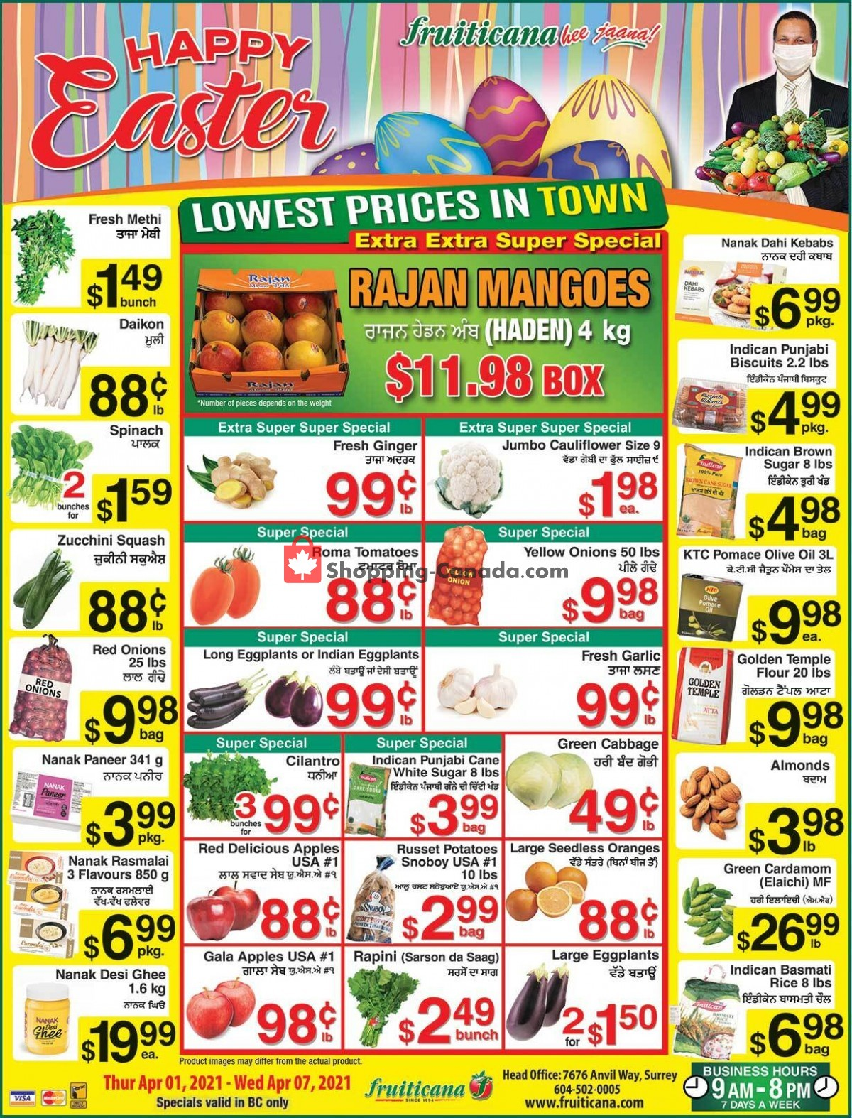 Flyer Fruiticana Canada - from Thursday April 1, 2021 to Wednesday April 7, 2021