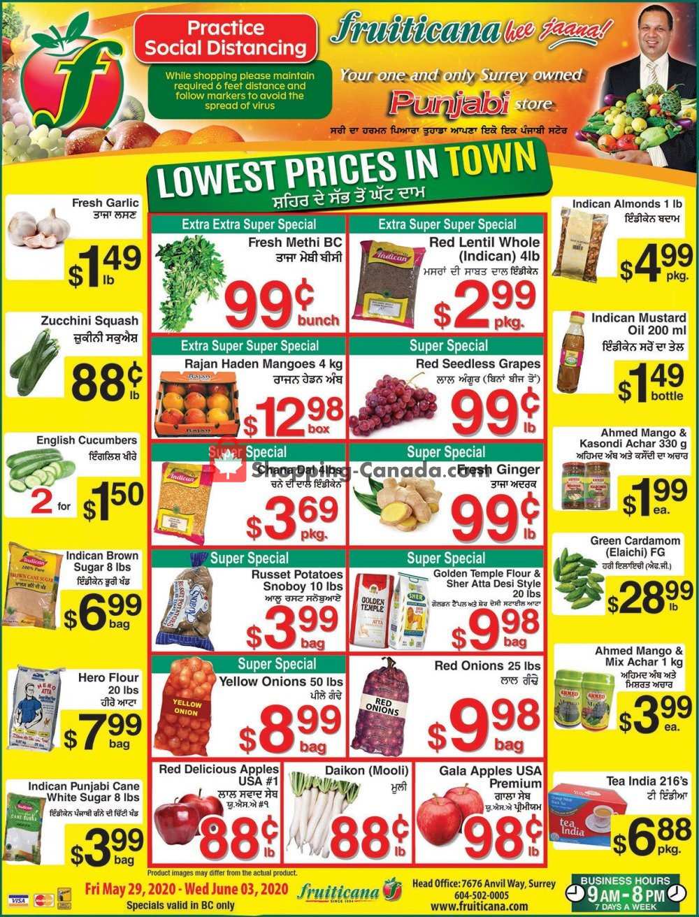 Flyer Fruiticana Canada - from Friday May 29, 2020 to Wednesday June 3, 2020
