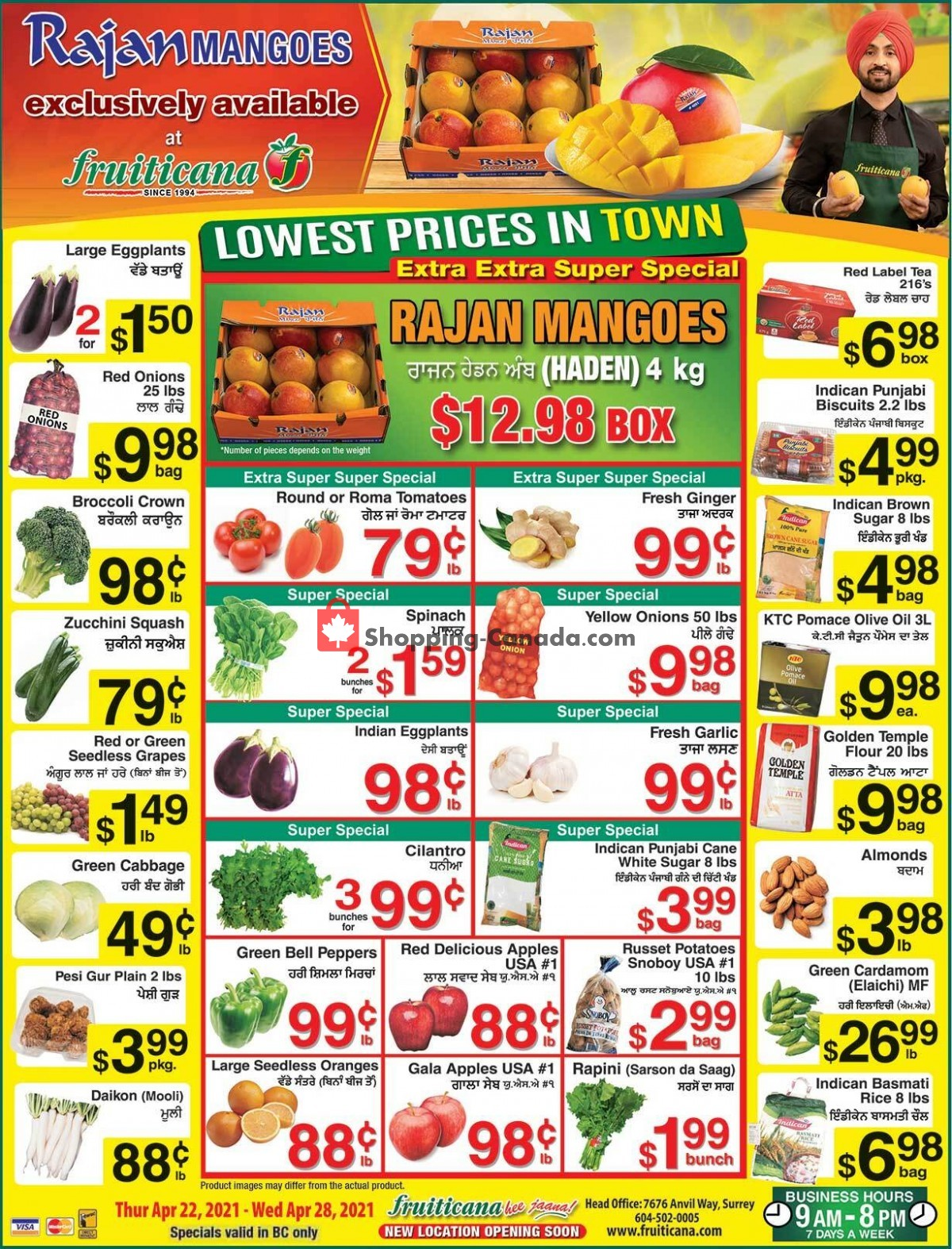 Flyer Fruiticana Canada - from Thursday April 22, 2021 to Wednesday April 28, 2021