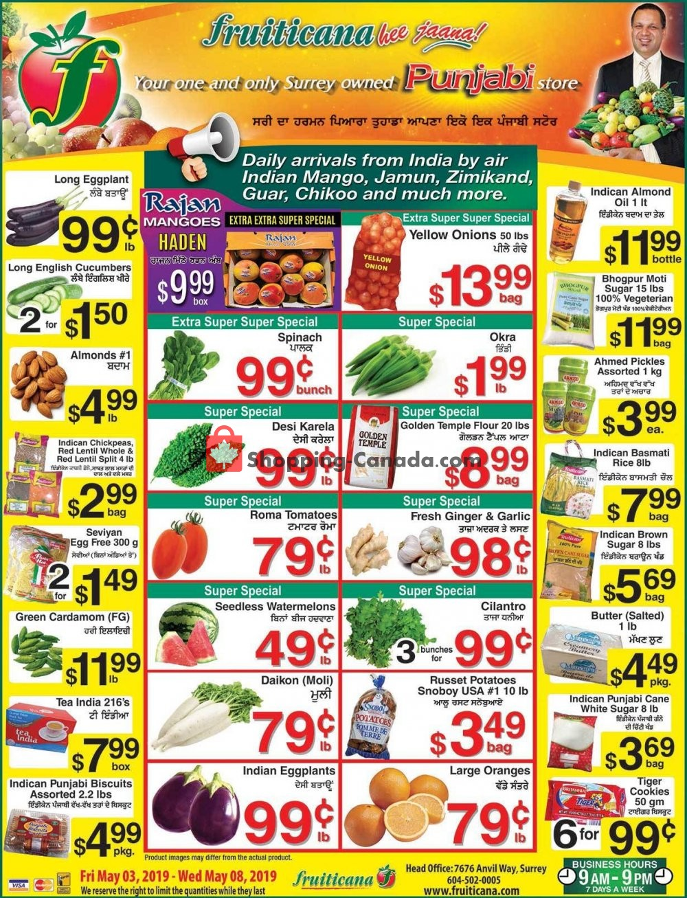 Flyer Fruiticana Canada - from Friday May 3, 2019 to Wednesday May 8, 2019
