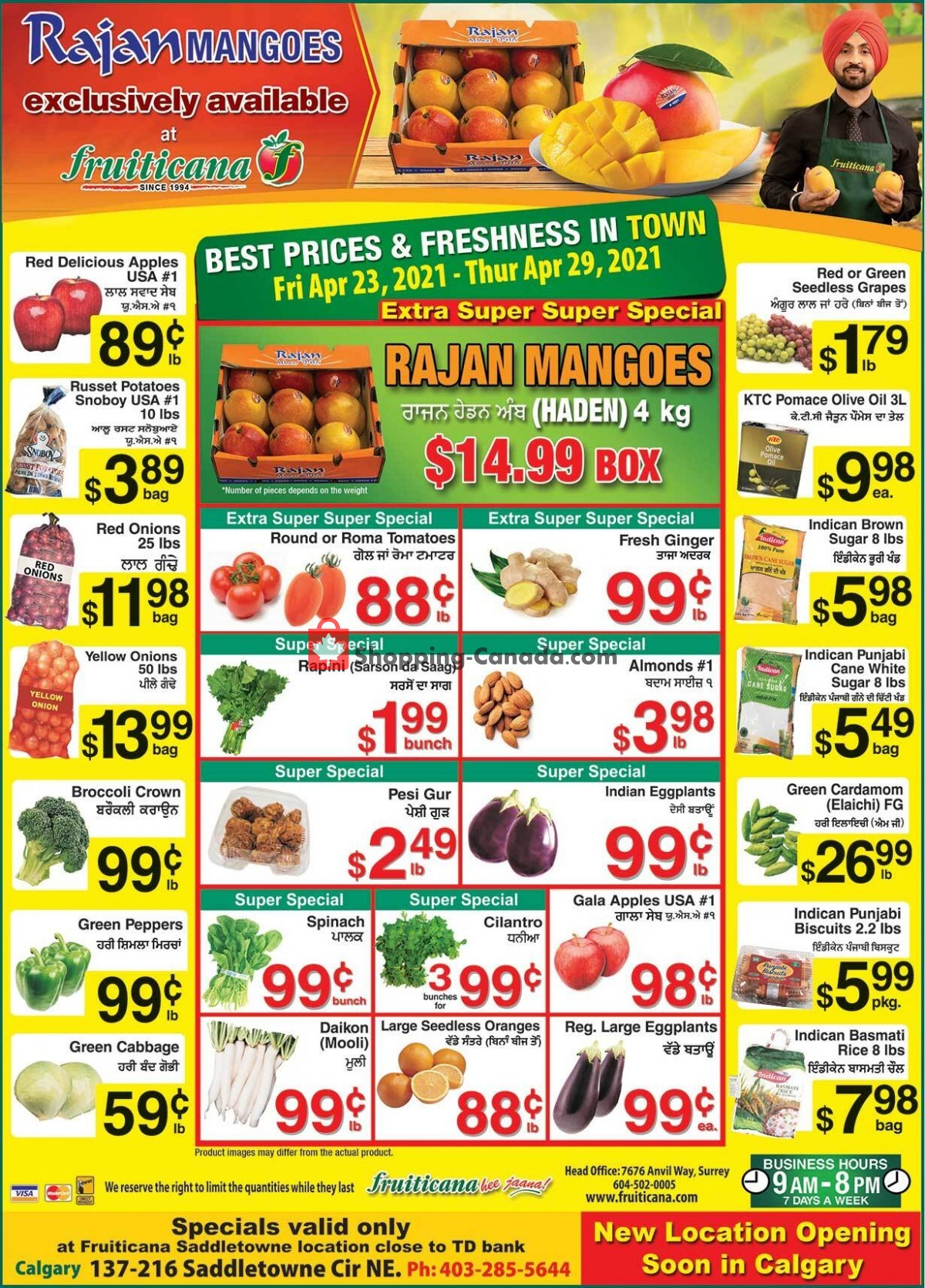 Flyer Fruiticana Canada - from Friday April 23, 2021 to Thursday April 29, 2021