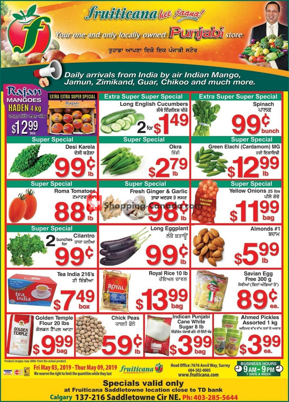 Flyer Fruiticana Canada - from Friday May 3, 2019 to Thursday May 9, 2019